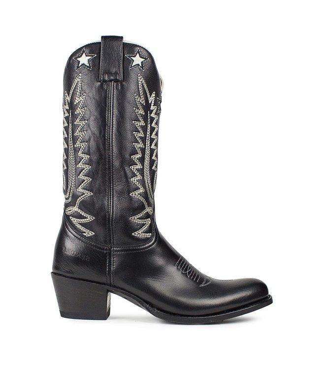Sendra Sendra cowboy ladies boot black-white leather