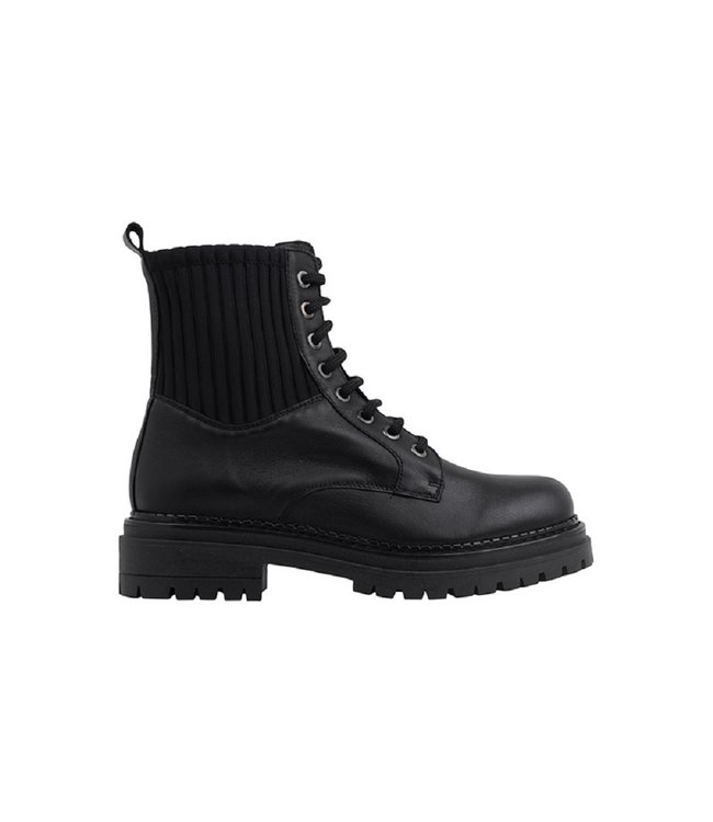 Ca Shott Ca Shott veter boots dames zwart leer