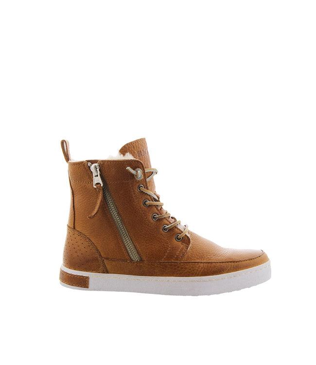 Blackstone Blackstone CW96 brown leather with wool ladies sneakers