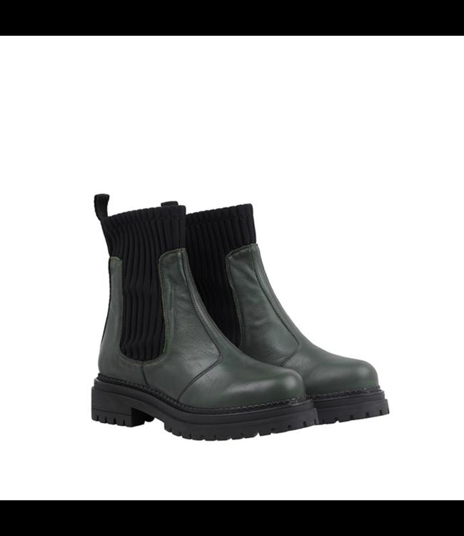 Ca Shott Ca Shott half high chelsea boots ladies green leather