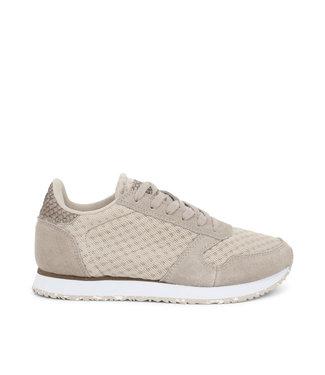 Woden Woden Ydun suède mesh 11 beige dames sneakers