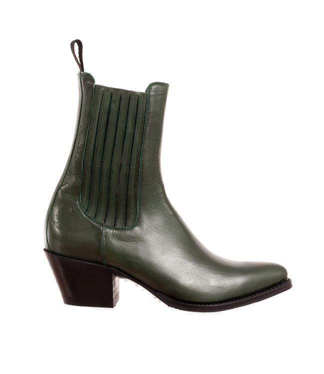 Sendra Sendra ladies western boots green leather
