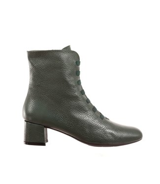 Square Feet Square Feet half-high zipper boots green