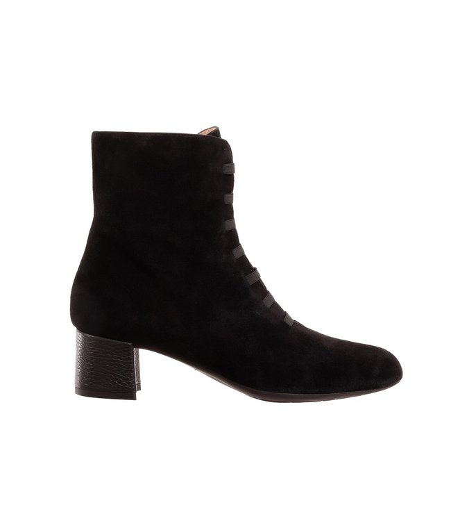 Square Feet Square Feet halfhoge ritslaars elastiekjes zwart