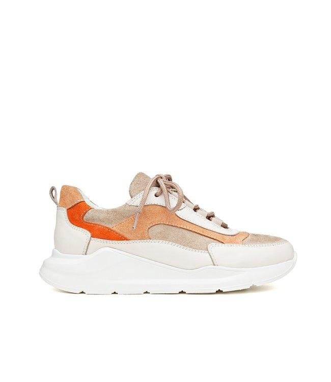 H32 H32 Coco dames sneakers beige oranje leer