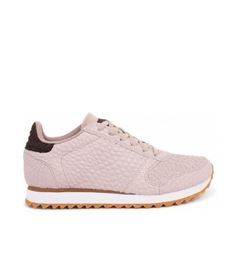 Woden Woden Ydun Croco 11 beige dames sneakers