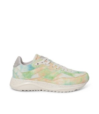 Woden Woden Sophie Splash green multi ladies sneakers