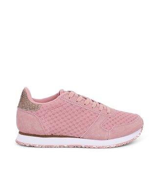 Woden Woden Ydun suède mesh 11 roze dames sneakers