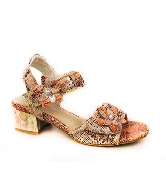 Laura Vita Laura Vita sandaal met bloemetjes patchwork leer