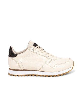 Woden Woden Ydun Croco Shiny wit dames sneakers