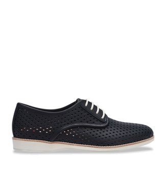 Rollie Rollie Derby Punch black ladies lace-up shoes