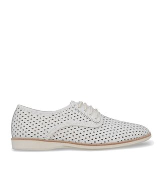 Rollie Rollie Derby Punch white ladies lace-up shoes