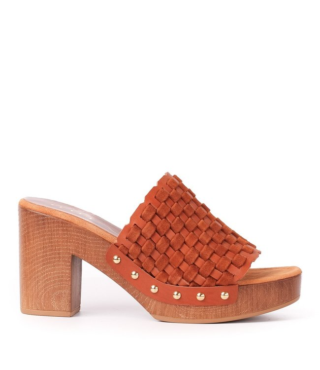 Unisa Unisa mules interlace brown leather