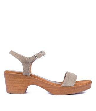 Unisa Unisa Irita sandaal kaki groen suède