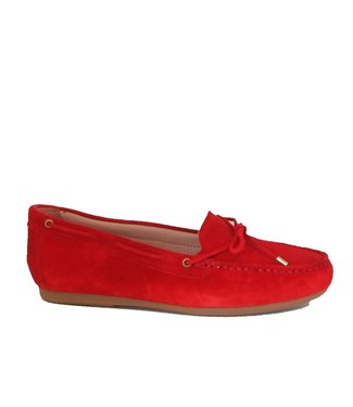 Giulia Giulia ladies moccasins red suede