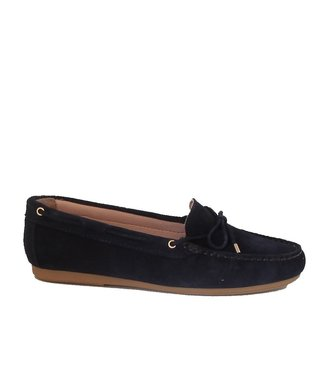 Giulia Giulia ladies moccasins dark blue suede
