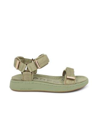 Woden Woden Line groen textiel dames sandaal