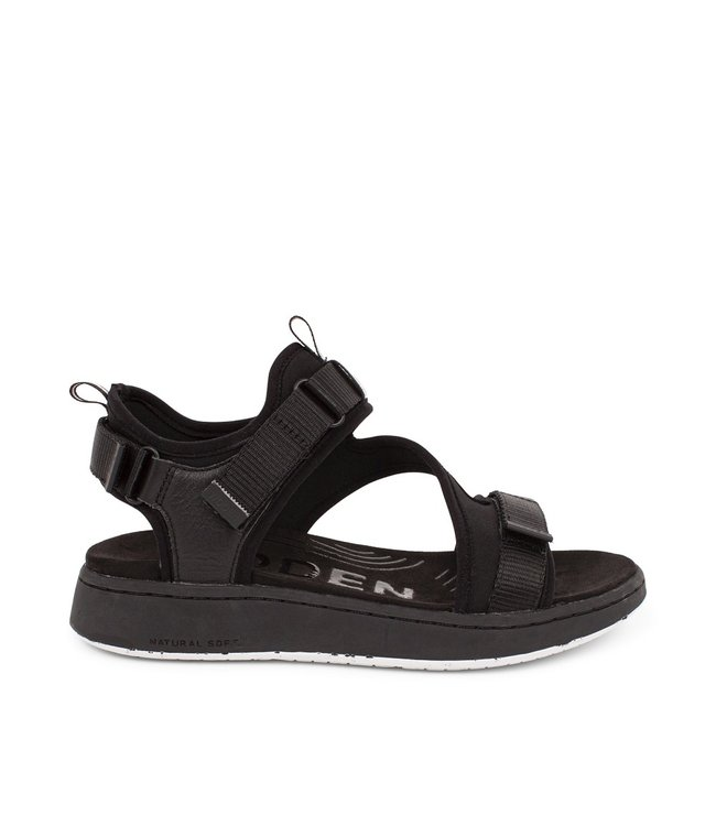 Woden Woden Emilie klittenband sandaal zwart