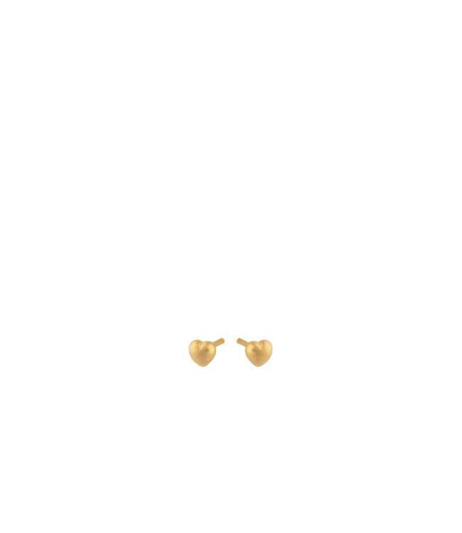 Pernille Corydon Pernille Corydon Heart Earsticks goud verguld