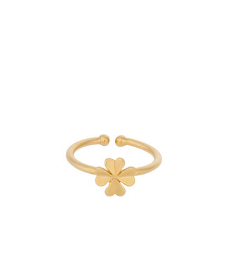 Pernille Corydon Pernille Corydon Clover Ring gold plated