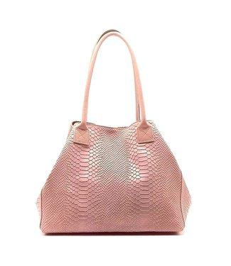 Zeen Zeen Bag damestas lichtroze leer