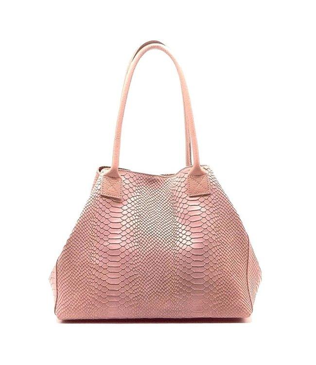Zeen Zeen Bag ladies bag light pink leather