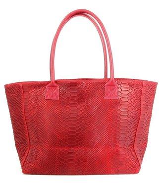 Zeen Zeen Bag damestas rood leer