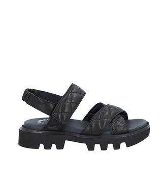 Ca Shott Ca Shott chunky dames sandaal zwart leer