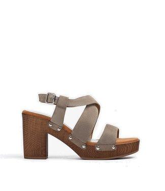 Unisa Unisa Terrat sandal green suede