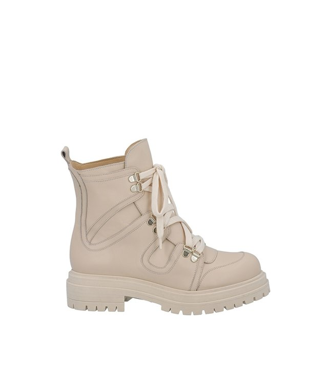 Ca Shott Ca Shott mid-high lace-up boots ladies beige leather