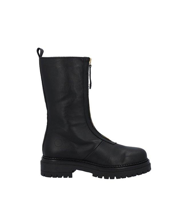 Ca Shott Ca Shott half high front zipper boots ladies black leather