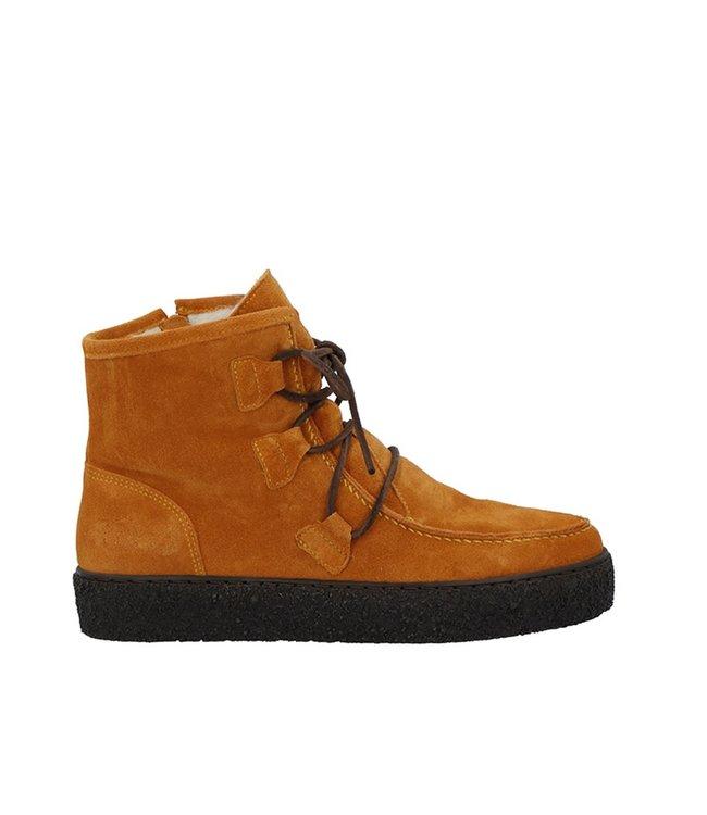 Ca Shott Ca Shott wool lined lace-up boots ocher suede