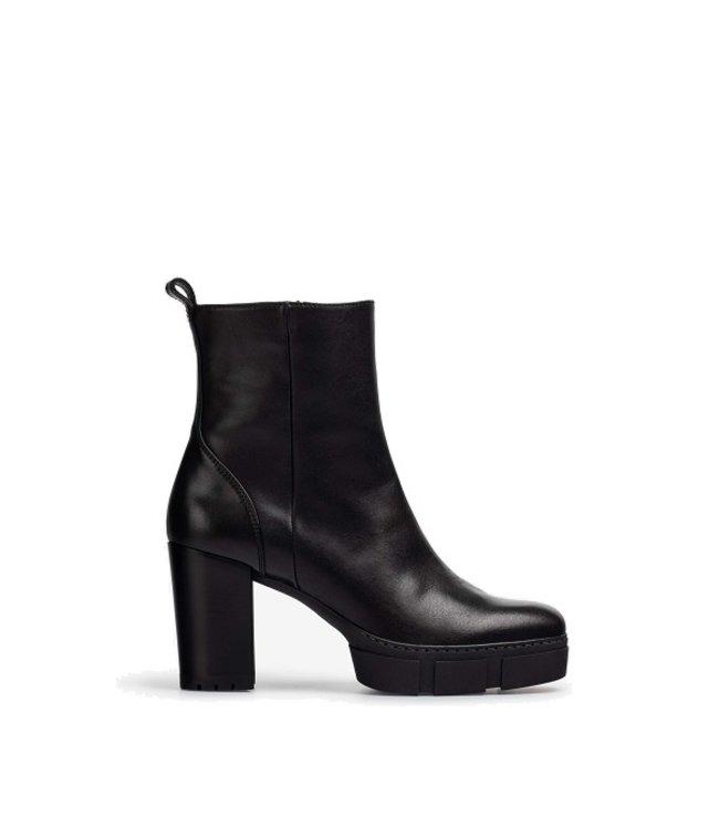 Unisa Unisa platform ankle boots black leather