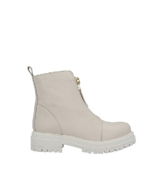 Ca Shott Ca Shott ankle high front zipper boots ladies beige leather