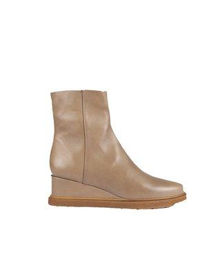 Unisa Unisa taupe leather boots with wedge heels