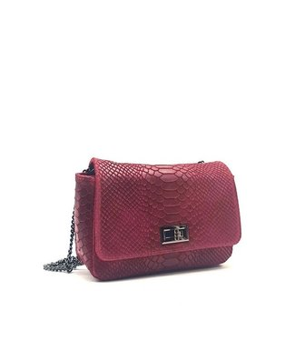 Zeen Zeen croco shoulder bag red leather