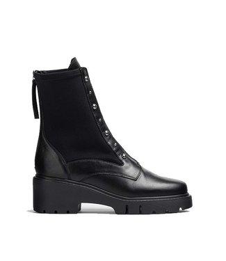 Unisa Unisa black leather boots with elastic sides