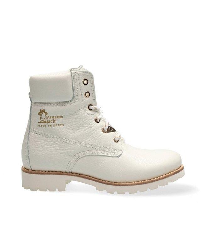 Panama Jack Panama Jack ladies lace-up boots white leather