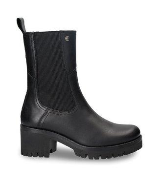 Panama Jack Panama Jack dames chelsea boots zwart leer