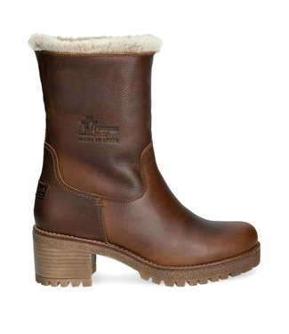 Panama Jack Panama Jack ladies boot with warm lining brown leather