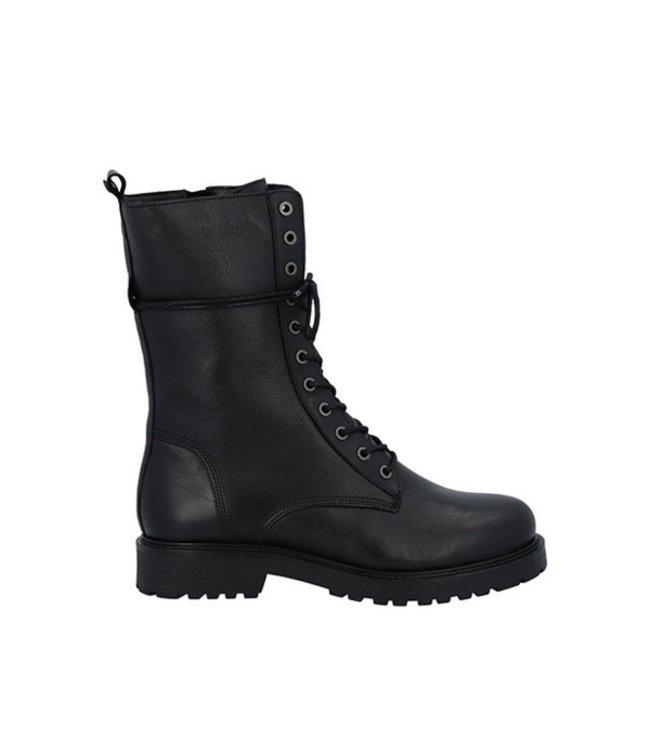 Ca Shott Ca Shott halfhoog veter boots dames zwart leer