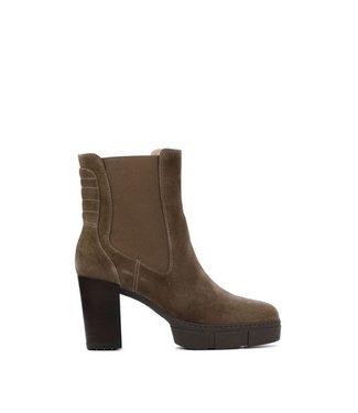 Unisa Unisa platform chelsea boots with heel taupe suede