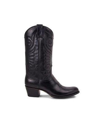Sendra Sendra cowboy dames boots zwart leer
