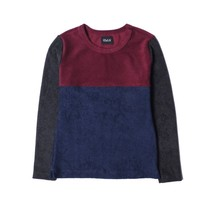 Badstof jongens sweater bordeaux rood
