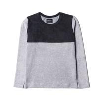 Howlin Badstof jongens sweater grijs