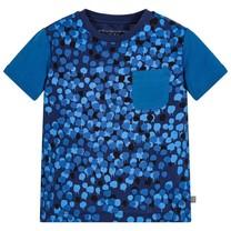 Stella McCartney kids Kobaltblauw t-shirt Dripping Camo