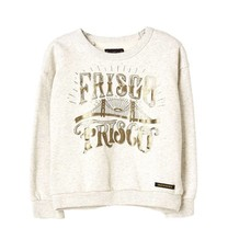Finger in the nose Turner heather ecru frisco sweatshirt