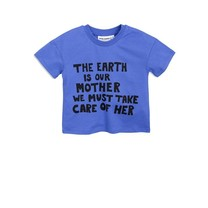 Mini Rodini Mother earth ss tee blue