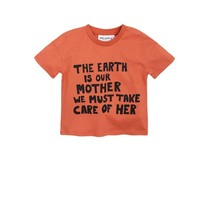 Mini Rodini Mother earth ss tee orange