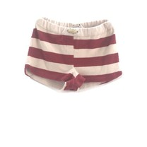 Long Live the Queen Sporty shorts rust stripe
